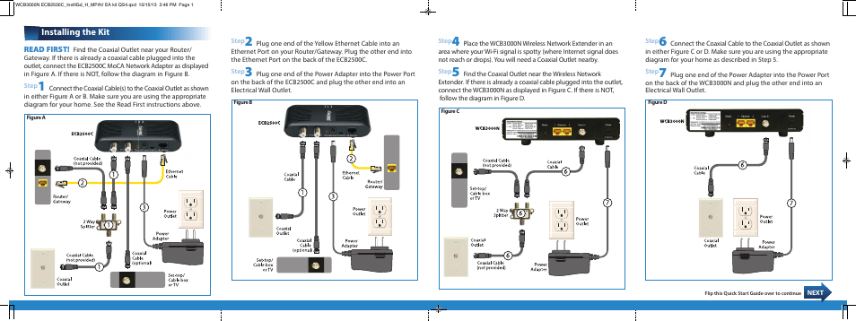 ethernet plug wiring diagram s plan plus with underfloor heating actiontec wcb3000n installation guide user manual | 2 pages