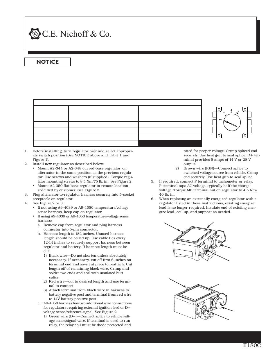 C.E. Niehoff & Co. A2-344/A2-348/A2-350 Regulator