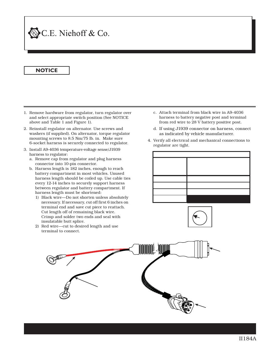 medium resolution of a9 4036 tv j1939 harness installation user manual 1 page