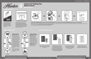 Hunter 99111 Wall Control User Manual | 2 pages