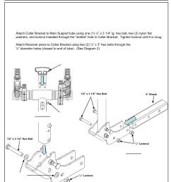 draw tite 59401 bike carrier tx w tilt security hitch mount user manual 9 pages [ 954 x 1272 Pixel ]