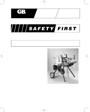 Gardner Bender B2000 Series E Cyclone Bender User Manual