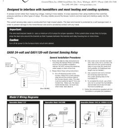 generalaire ga51 current sensing relay user manual 2 pages also for ga50 current sensing relay [ 954 x 1235 Pixel ]