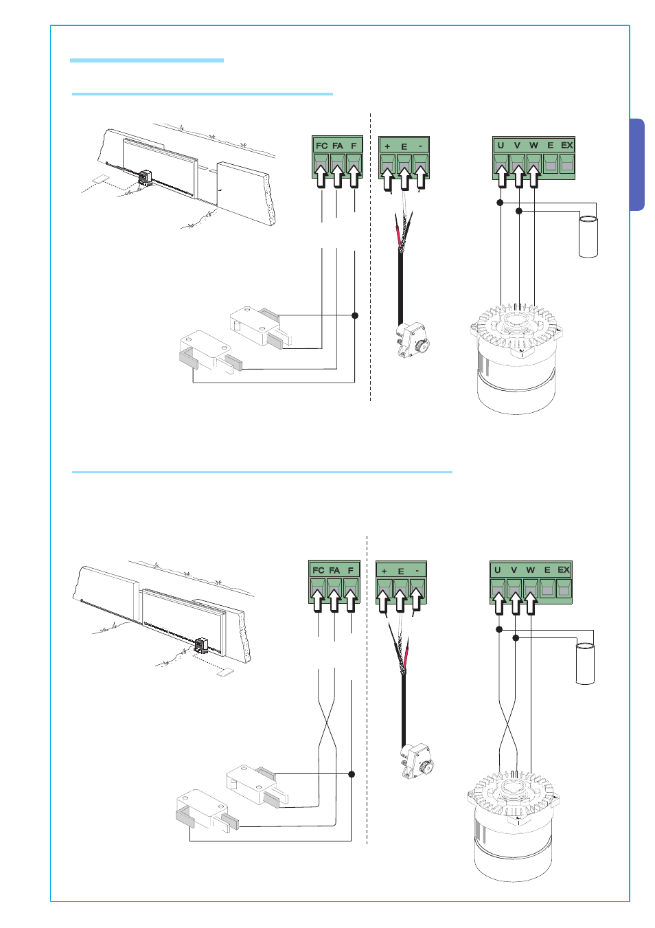 hight resolution of english 3 electrical connections connection for gear motor limit switch or encoder came bke 2200 kit user manual page 9 22
