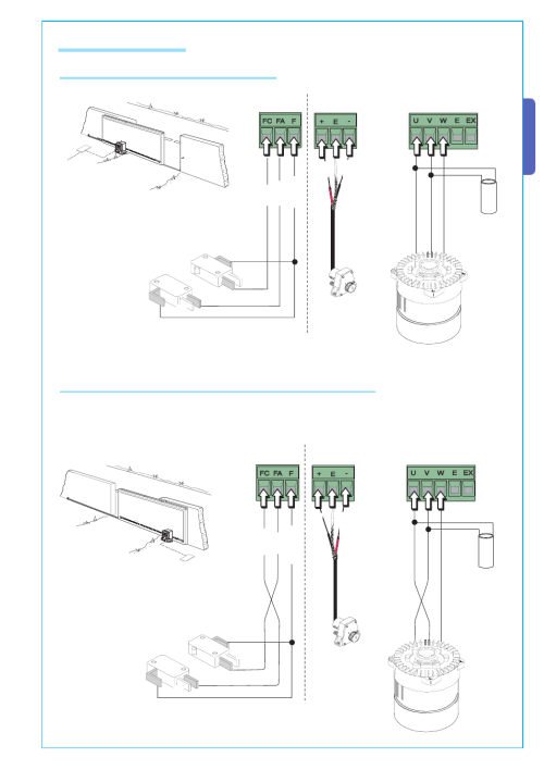 small resolution of english 3 electrical connections connection for gear motor limit switch or encoder came bke 2200 kit user manual page 9 22