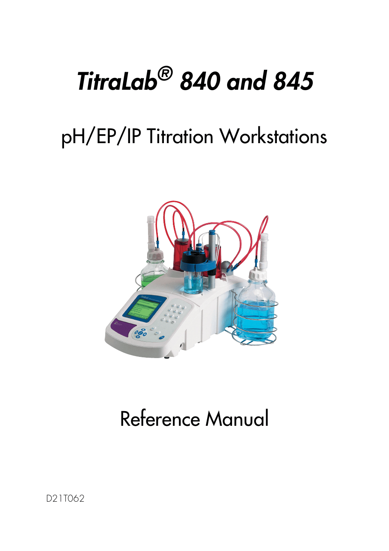 Hach-Lange TITRALAB 840_845 Reference Manual User Manual