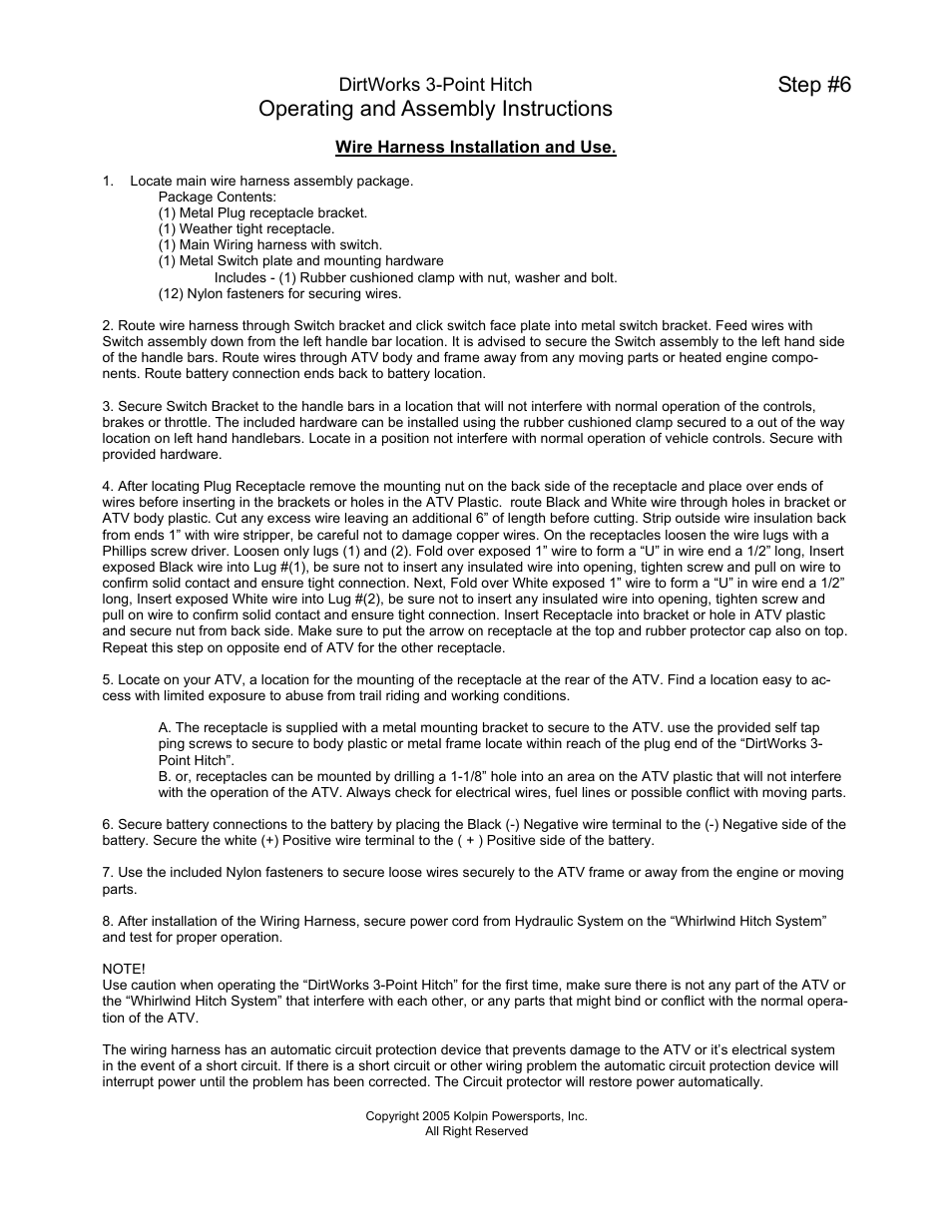 hight resolution of operating and assembly instructions step 6 kolpin whs03 user manual page 3 5