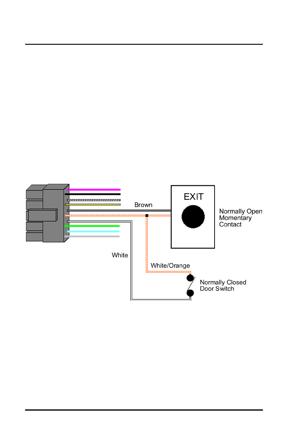 medium resolution of request to exit wiring diagram