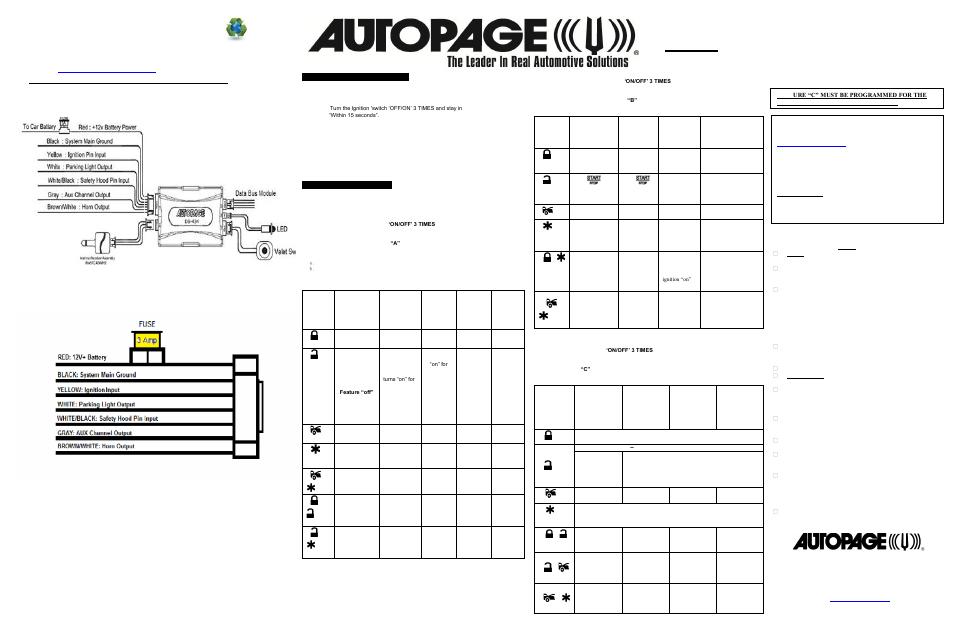 Auto Start 1575 Installation Manual