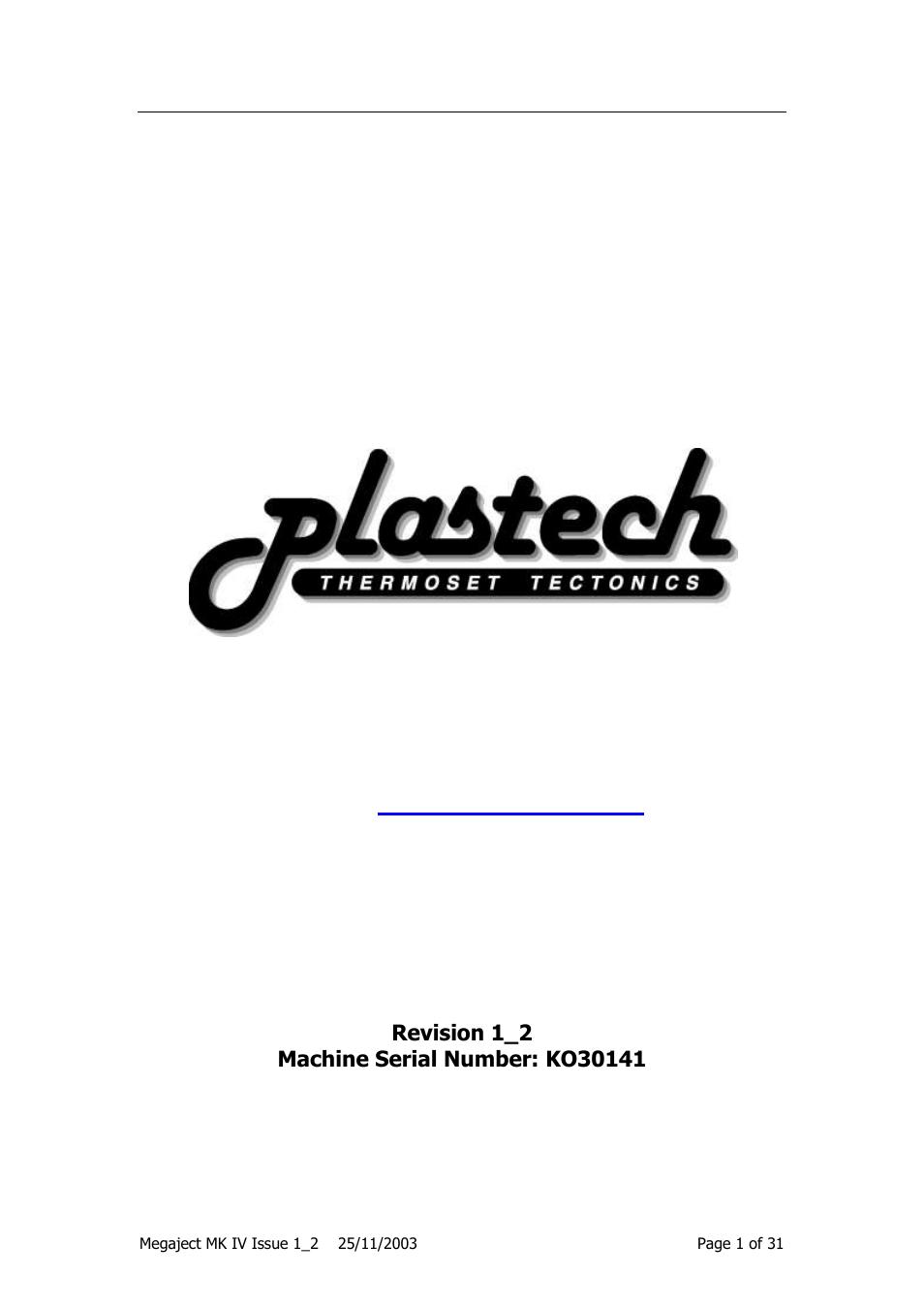 Magnum Venus Plastech Megaject MKIV Revision 1_2 User