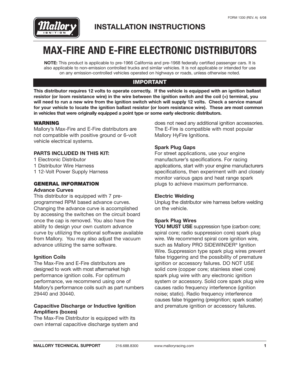 Mallory High Fire Wiring Diagram - Wiring Diagram G11 on