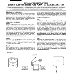 mallory ignition mr gasket electric micro diesel fuel pump 12dmallory ignition mr gasket electric micro [ 954 x 1235 Pixel ]