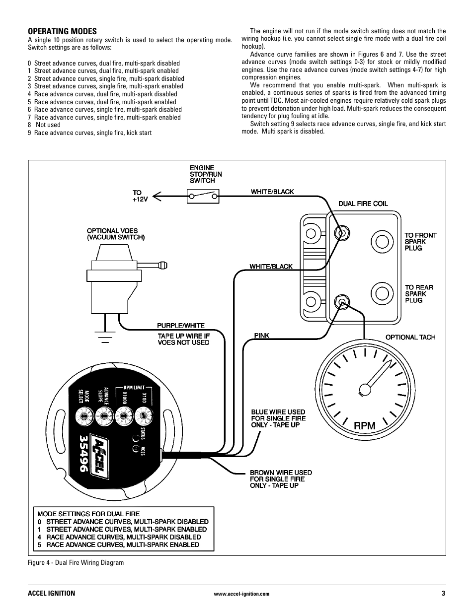 accel ignition wiring diagram golf cart ez go mallory 35496 user manual | page 3 / 8