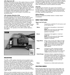 mallory ignition accel 275 300 digital ignition 49275 49300 user manual page 2 8 also for accel tach adapter universal 49365 [ 954 x 1235 Pixel ]