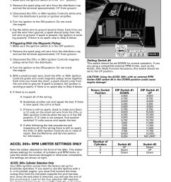 mallory ignition accel 275 300 digital ignition 49275 49300 user manual page 4 8 also for accel tach adapter universal 49365 [ 954 x 1235 Pixel ]