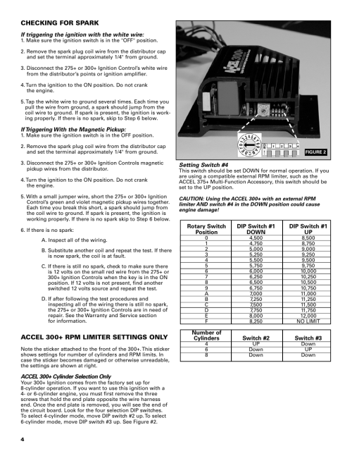 small resolution of mallory ignition accel 275 300 digital ignition 49275 49300 user manual page 4 8 also for accel tach adapter universal 49365
