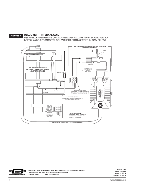 small resolution of delco hei internal coil figure 7 coil without cutting wires shown below mallory ignition mallory promaster ignition coil 29440 29450 29625 29450