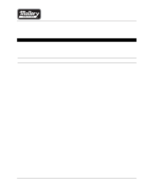 small resolution of mallory ignition mallory unilite distributor user manual 13 pages place diverter wiring diagram mallory distributer wiring diagram