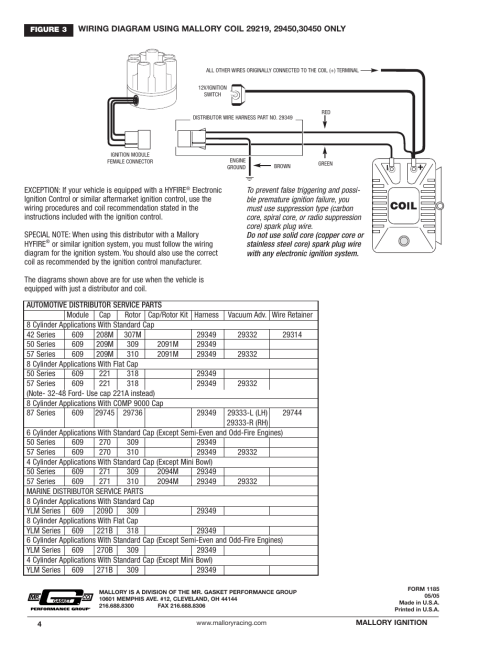 small resolution of mallory ignition mallory magnetic breakerless distributor user manual page 4 4
