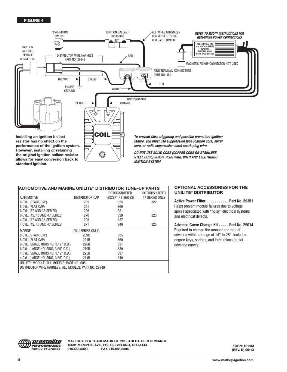 mallory unilite mallory module 605 wiring diagrams