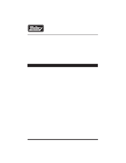 small resolution of mallory ignition mallory window rpm activated switch 628 user manual 12 pages