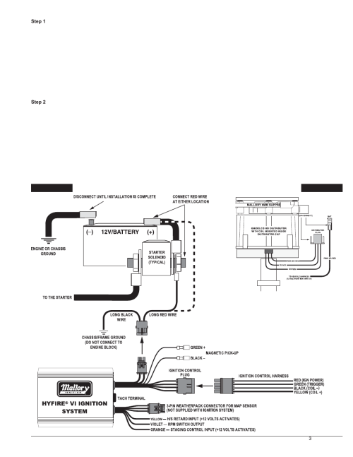 small resolution of basic wiring procedure mallory ignition mallory hyfire vi series warn winch wiring diagram basic wiring procedure