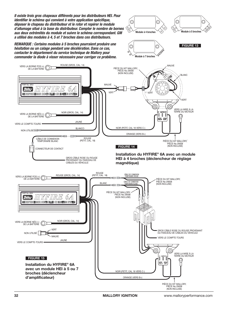 medium resolution of hhy yf fiir re e 6 6a a installation du hyfire mallory ignition mallory