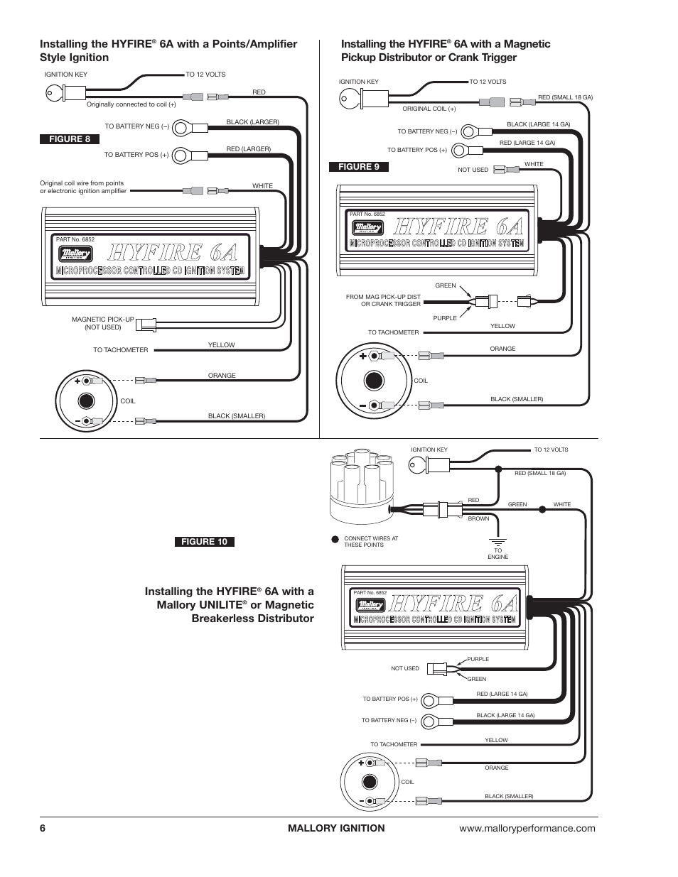 mallory hyfire 6al wiring diagram for heimallory comp 9000 distributor to  msd ignition wiring mallory ignition