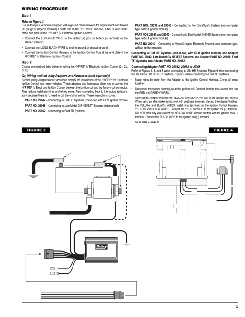 small resolution of wiring procedure figure 4 12v battery mallory ignitionwiring procedure figure 4