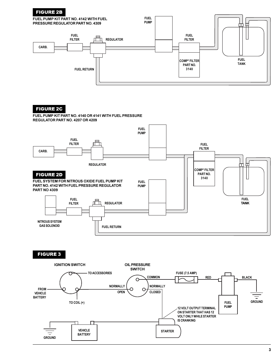 hight resolution of figure 2b figure 2c figure 2d mallory ignition mallory comp pump series 110 and 140 electric fuel pumps 4110 4150 user manual page 3 4