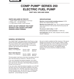 mallory ignition mallory comp pump series 250 electric fuel pump 5250 5250a user manual 4 pages [ 954 x 1235 Pixel ]