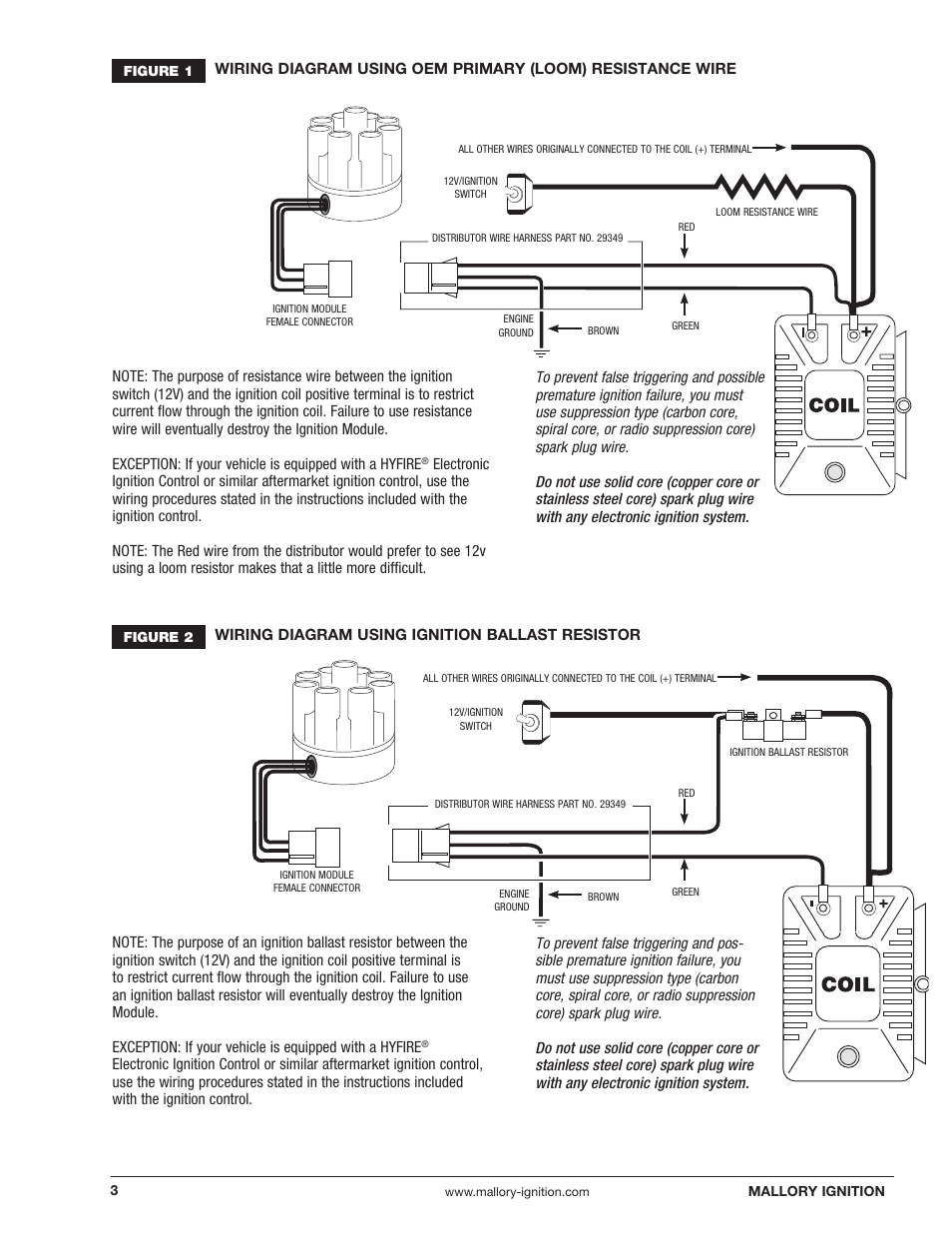 unilite ignition wiring diagram coil and distributor mallory 3 wire