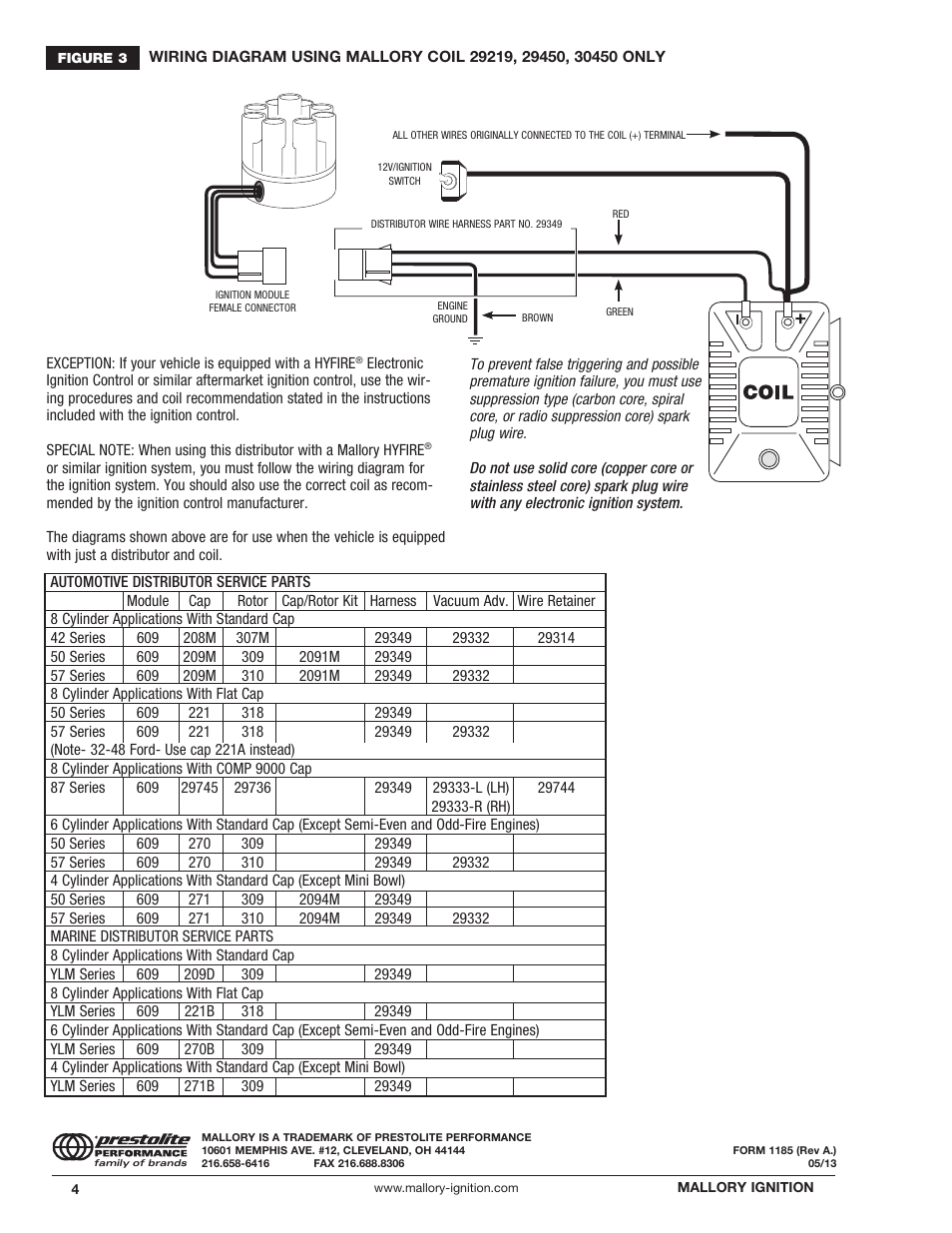mallory distributor wiring diagram for capacitor run motor ignition magnetic breakerless 609 user manual | page 4 /