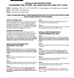 mallory ignition mr gasket clearview fuel filter 9706 9747 9748 user manual 1 page [ 954 x 1235 Pixel ]