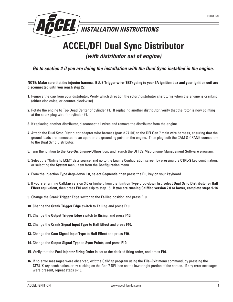 hight resolution of mallory ignition accel dfi dual sync distributor 77100 page1 mallory ignition accel dfi dual sync distributor