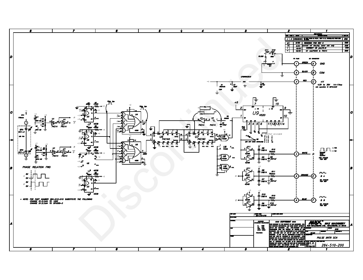 Max Machinery 284-512 SERIES TRANSMITTERS User Manual