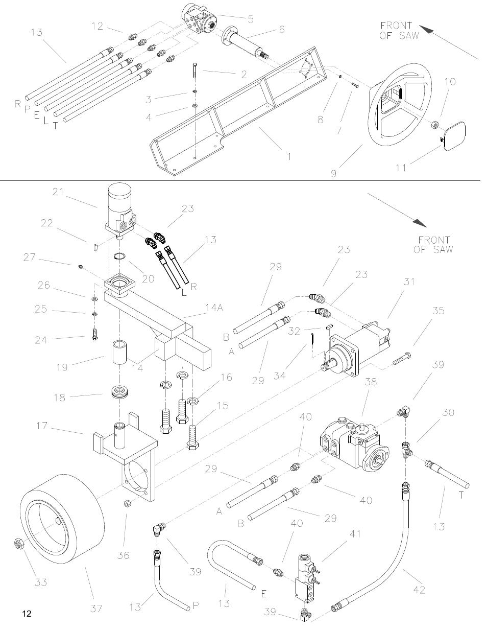 Power steering group, Drawing 5. power steering group