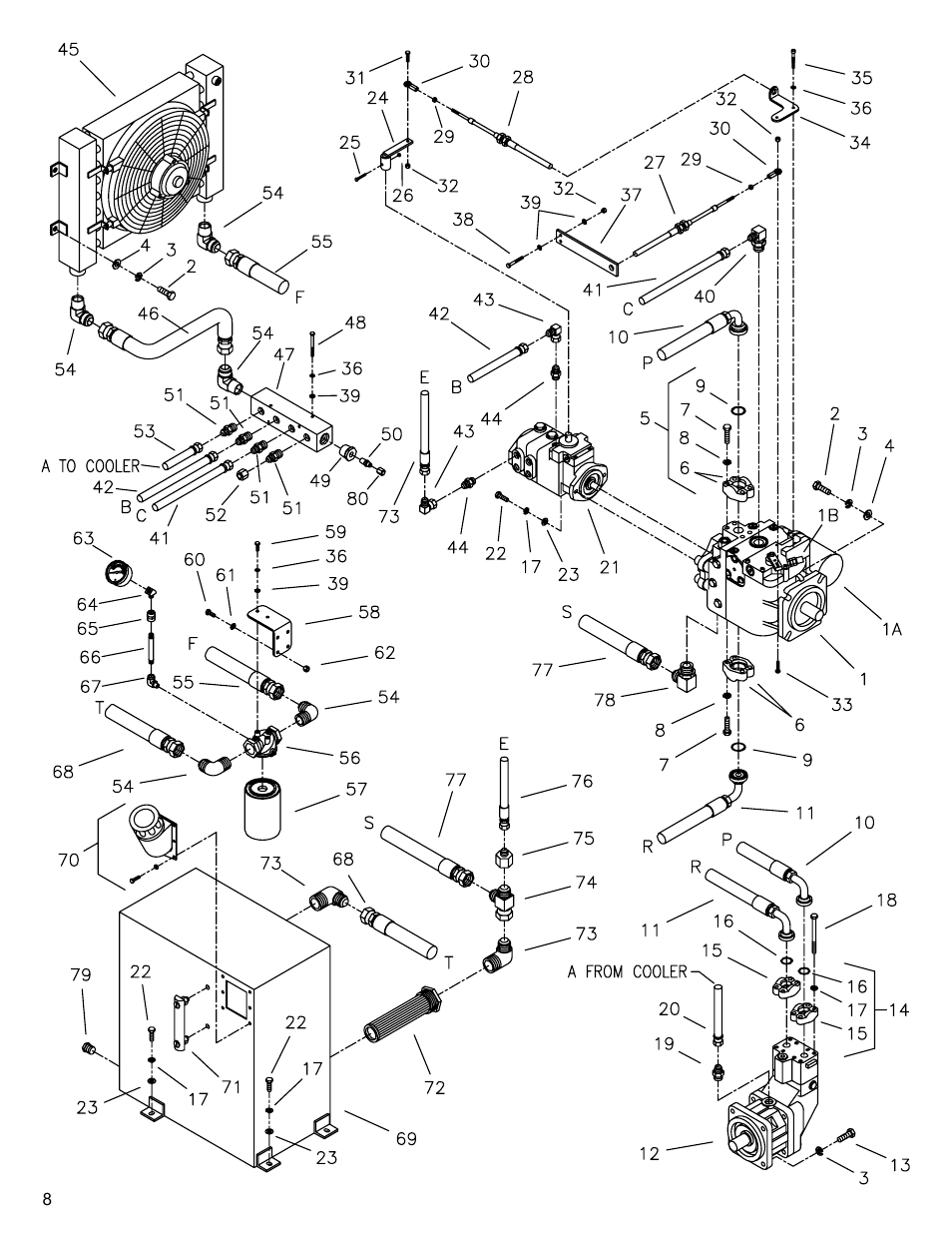 Hydraulics group a, Drawing 3. hydraulics group a