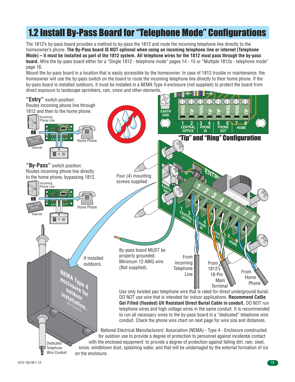 hight resolution of entry by pass entr y by p ass tip and ring configuration doorking 1812 access plus user manual page 13 60
