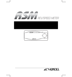 apex digital rev speed meter 405 a912 user manual 44 pages also for rev speed meter 405 a916 [ 954 x 1351 Pixel ]
