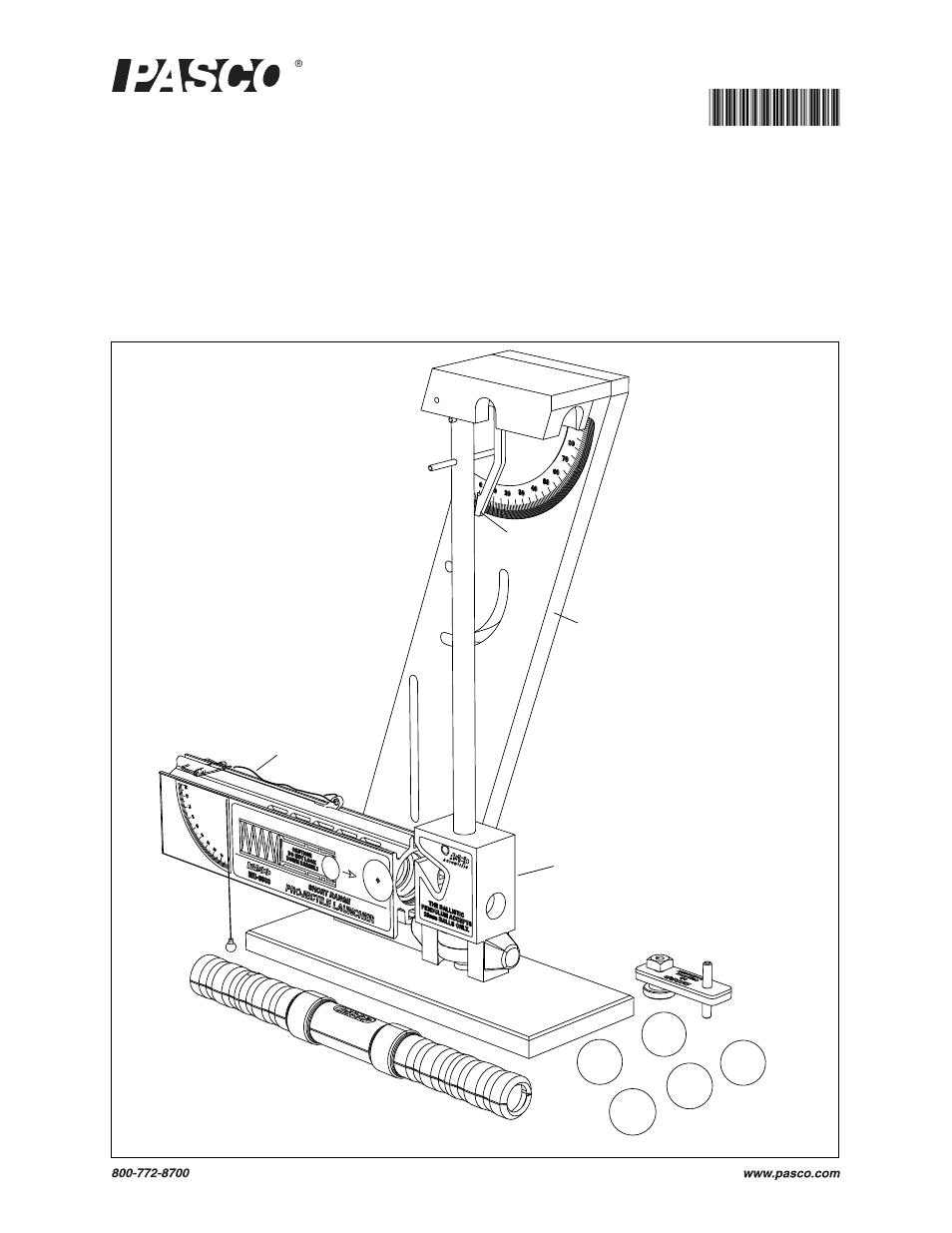 PASCO ME-6831 Ballistic Pendulum_Projectile Launcher User