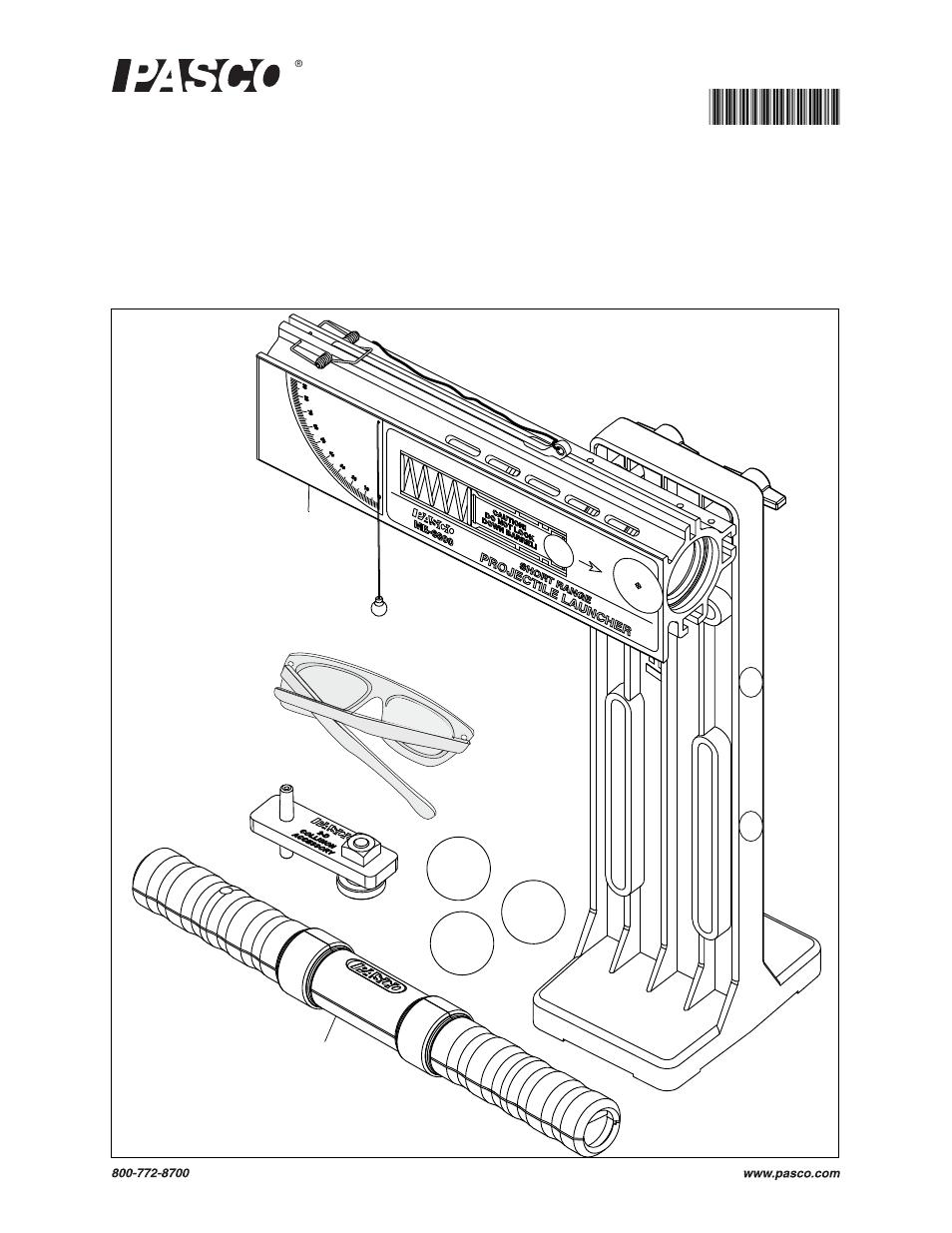 PASCO ME-6800 Projectile Launcher (Short Range) User