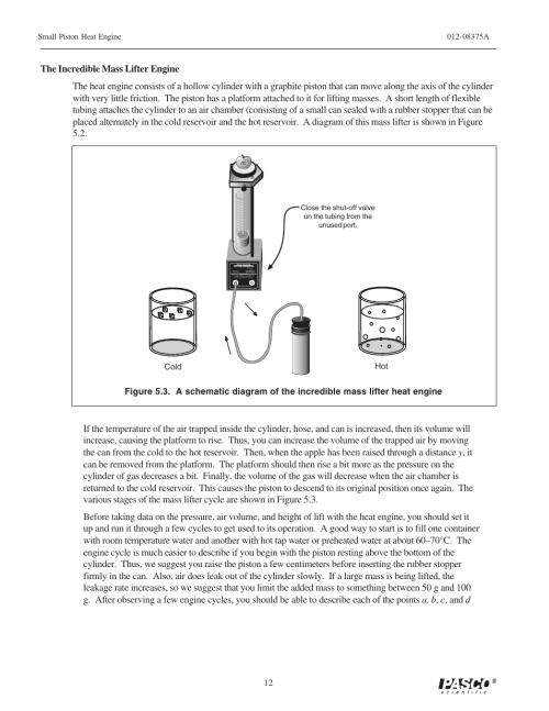 small resolution of pasco td 8592 small piston heat engine apparatus user manual page 17 24