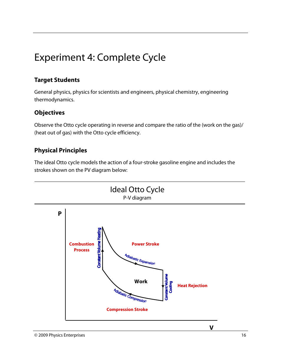 hight resolution of experiment 4 complete cycle ideal otto cycle pasco td 8565 adiabatic gas law apparatus user manual page 16 25
