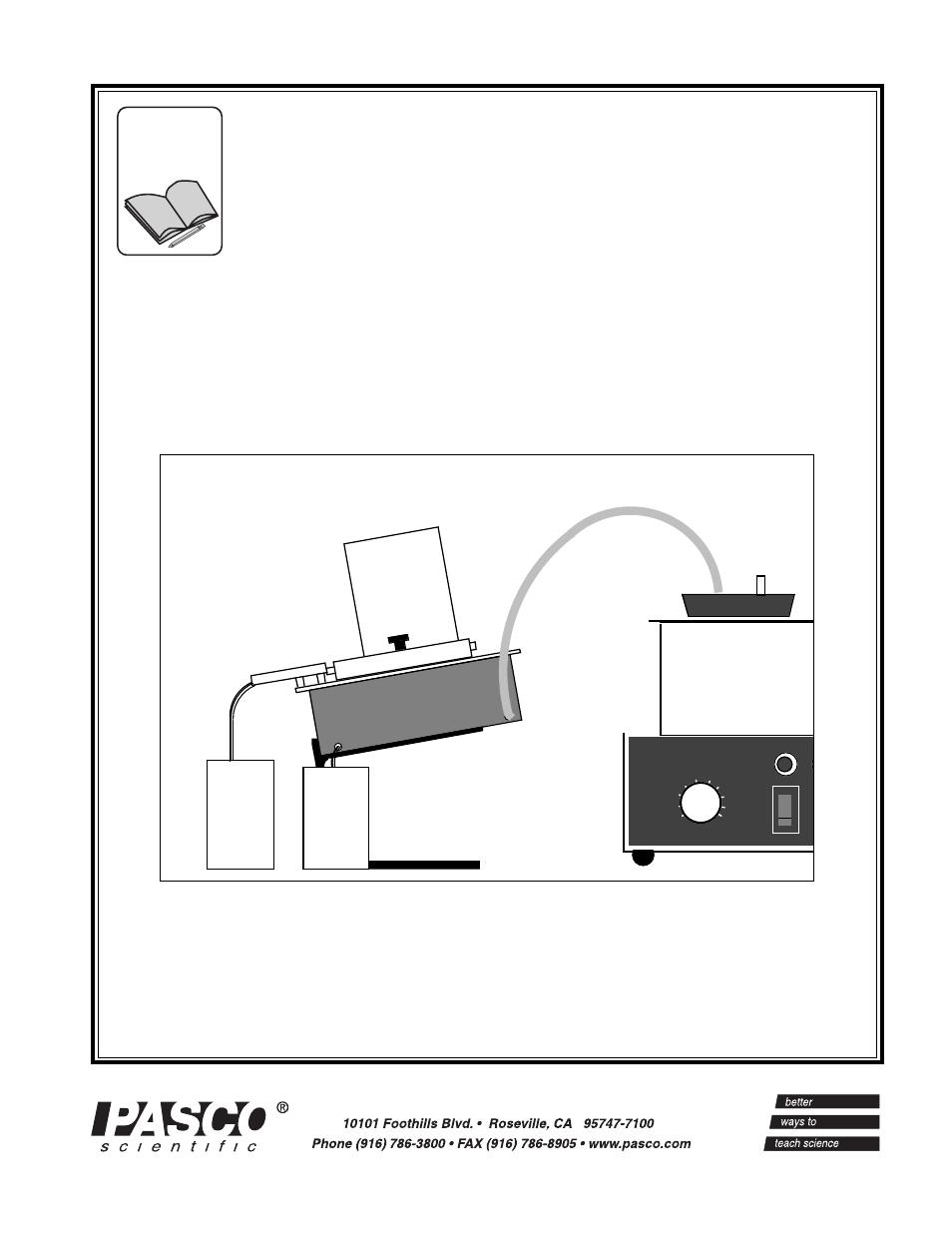 PASCO TD-8561 THERMAL CONDUCTIVITY APPARATUS User Manual