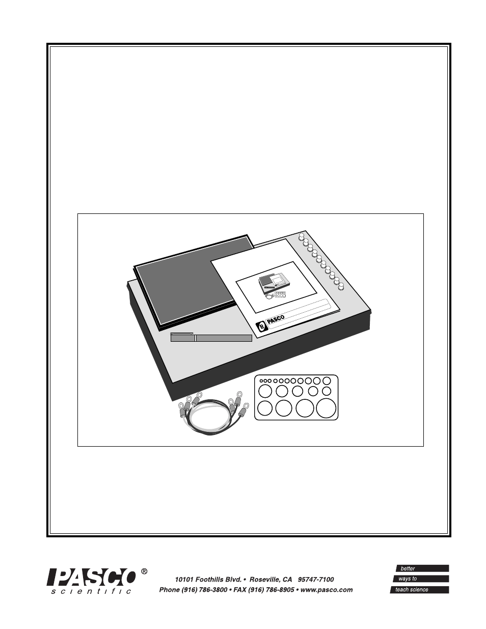 PASCO PK-9023 EQUIPOTENTIAL AND FIELD MAPPER User Manual