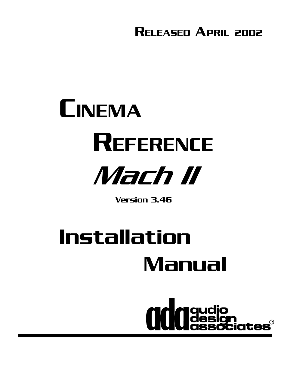 Audio Design Associates Cinema Reference Mach II PTM-8150