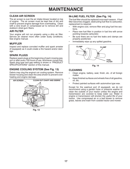 small resolution of maintenance poulan pro pb145g38 lawn tractor user manual page 17 56