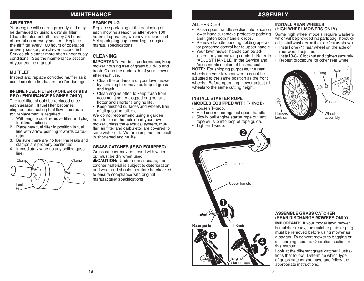 Poulan Pro Lawn Mower Manual