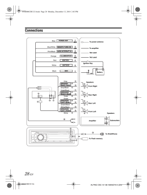 Wire Harness Alpine Cde 9881  Auto Electrical Wiring Diagram